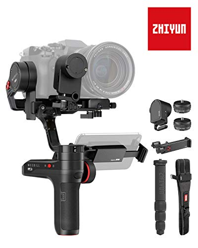 Zhiyun WEEBILL LAB 3-Axis Gimbal Stabilizer for Mirrorless and DSLR Cameras up to 6.6 Lb, with Follow Focus Monitor (Creator Package 2019 New) (Best Mirrorless Camera 2019 Under 1000)
