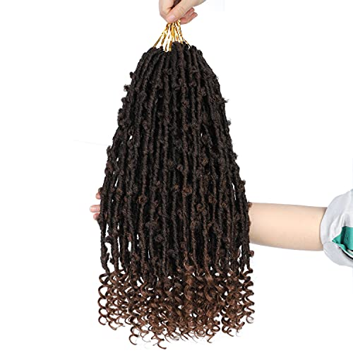 Black and Pretty 6 Packs Butterfly Locs Crochet Hair 18 inch Soft New Faux Locs Handmade Butterfly Locs Crochet Braids Hair Synthetic Crochet Twist Braiding Hair Extensions for Women(18 Inch, 1B/30)