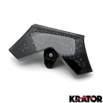 Krator ITL019 Turn Signals (2006-2011 Kawasaki ZX14 / ZX14R / ZZR1400 LED TailLights Brake Tail Lights with Integrated Indicators Smoke Motorcycle): Automotive