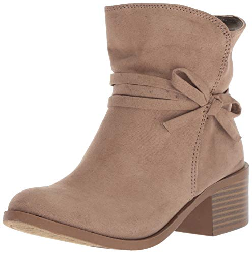 Nine West Girls' CYNDEES Mid Calf Boot, Taupe, M020 M US Little - Rubber West Boots Nine