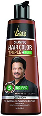 Vcare Shampoo Hair Color Brown 180 Ml Pack Of 2 Buy Online At Best Price In Uae Amazon Ae
