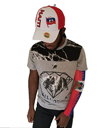 Haiti Flag Arm or Calf Sleeve size 1 Sleeve Men Women Sunblock Protective W/ Haitian Baseball Cap HAT