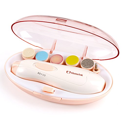 Baby Nail File Manicure Set - Safe Electric Nail Clipper Baby Nail Trimmer with LED Light for Newborn Infant Toddler Kids Adults Women Toes and Fingernails, Perfect Baby Shower Gift