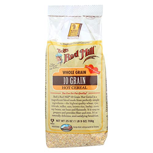 Bobs Red Mill 10 Grain Hot Cereal - 25 oz - Case of 4 - Tasty - Hearty Breakfast