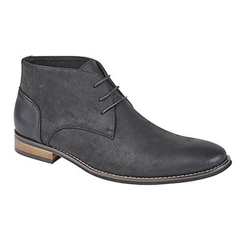 Goor Mens 3 Eye Lace Up Desert Boots Black GE9Wrnj