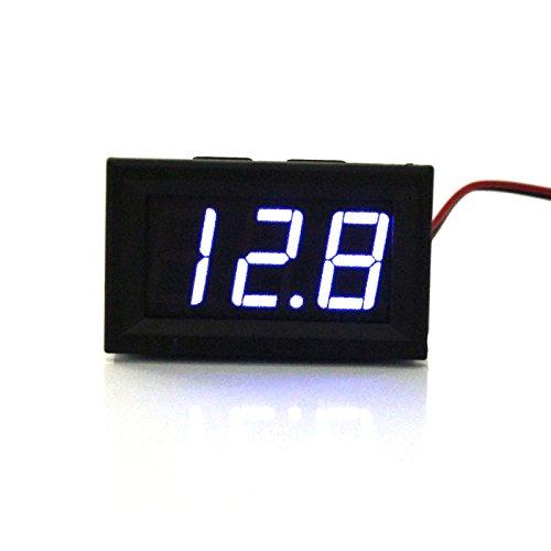 LtrottedJ DC 0-30V LED 3-Digit Display Voltage Voltmeter, Motorcycle Ammeter ()