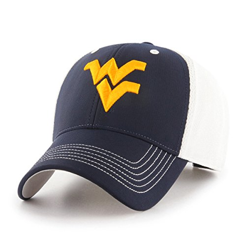 NCAA West Virginia Mountaineers Sling OTS All-Star MVP Adjustable Hat, Navy, One Size