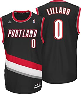 adidas Damian Lillard Portland Trail Blazers NBA Mens Black Official Replica Jersey