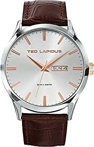 Ted Lapidus Mens Black Dial Stainless Steel Band Watch [5116203]