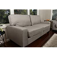 Home Life 2-3 Person Apartment Size Contemporary Pocket Coil Hardwood Sofa 281 73 Wide - Grey