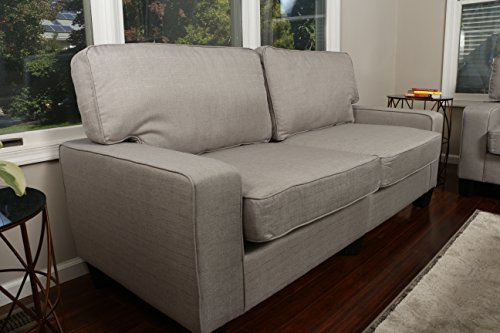 Apartment Size Furniture (Home Life 2-3 Person Apartment Size Contemporary Pocket Coil Hardwood Sofa 281 73