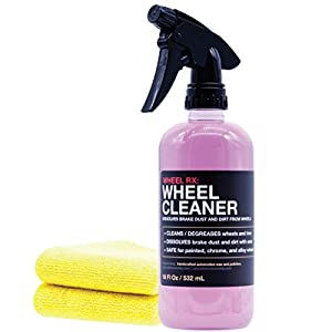 Shine Society Wheel Cleaner, Heavy Duty Strength for Removing Tough Brake Dust and Road Grime from Chrome, Alloy, and Painted Wheels with MICROFIBER TOWEL INCLUDED (18 oz.)