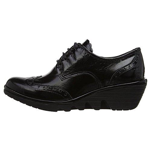FLY London Palt, Zapatos de Vestir para Mujer Black Patent
