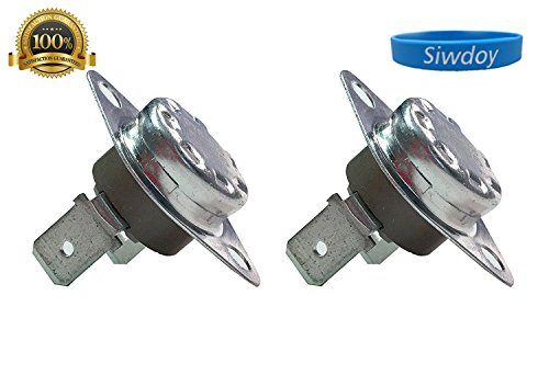 Clothes Dryer Thermostat Assembly (Siwdoy 2 Pack DC47-00016A Dryer Thermal Fuse Thermostat Assembly for Samsung Dryer AP4201894 PS2038378)