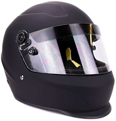 Typhoon Helmets Snell SA2015 Approved Full Face Auto Racing Helmet (Matte Black, Large)