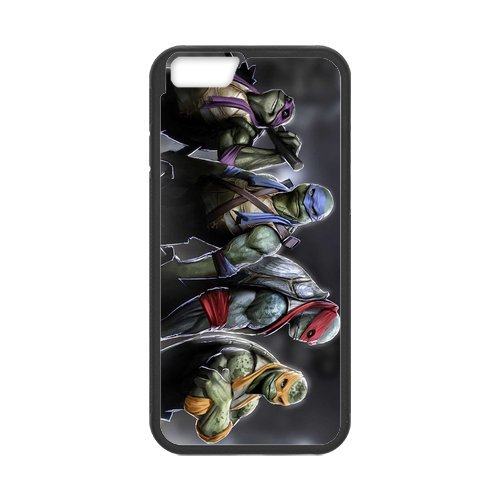 Fayruz- Personalized Protective Hard Textured Rubber Coated Cell Phone Case Cover Compatible with iPhone 6 & iPhone 6S - TMNT Teenage Mutant Ninja Turtles F-i5G1198