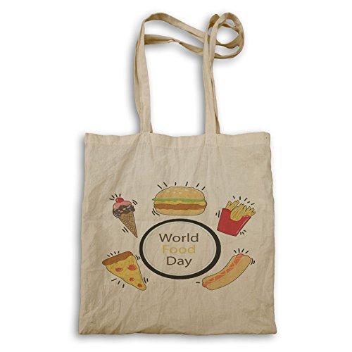 Welt Essen Tag Kunst Tragetasche r477r