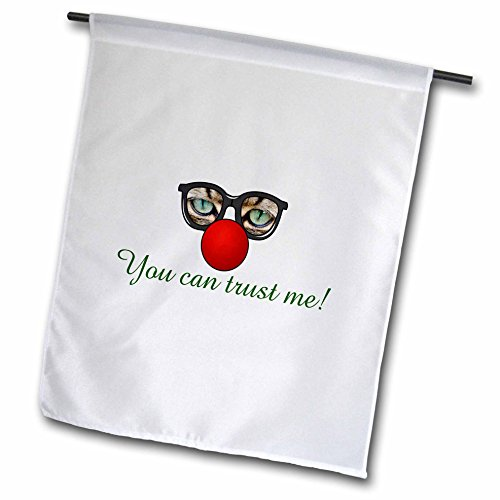 3dRose Sven Herkenrath Quotes - You Can Trust Me Funny Cat Sunglasses Animal Quotes - 18 x 27 inch Garden Flag - Sunglasses Quotes