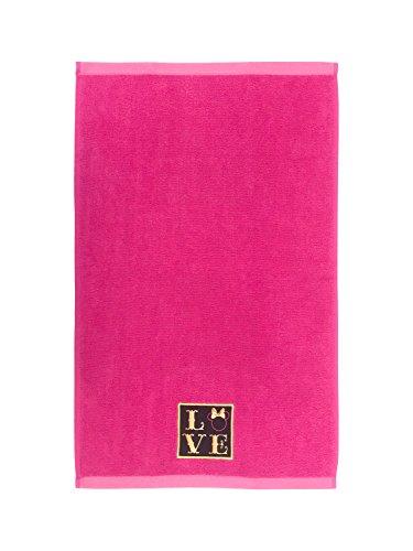 Disney Minnie Mouse XOXO Pink/Black/Gold Cotton Hand Towel