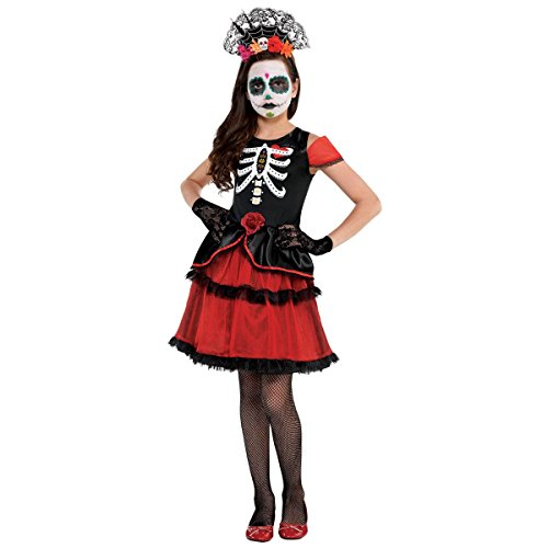 Amscan Day of The Dead Dress - Child Standard Black -