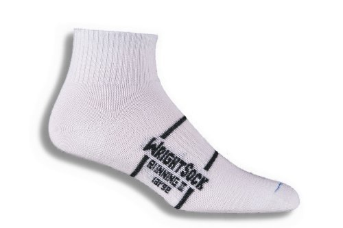 Wrightsock Running II Double-Layered Quarter Socks White 865 (2pk)
