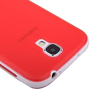 JUJEO 2-Color Series Translucent Frosted TPU Case for Samsung Galaxy S IV/I9500 - Non-Retail Packaging - Red
