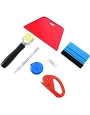 Scicalife Ferramentas de envelopamento de vinil para carro, kit de ferramentas para suavização de filme automático, raspador de feltro, espátulas, ferramentas de aplicação de decalque