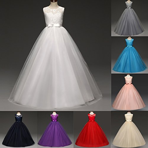 Big Girl Lace Flower Girl Princess Dress Tulle Long Maxi Party Fall Dance Gown Kids Wedding Bridesmaid Pageant -  IBTOM CASTLE