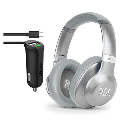 - JBL Everest 750 Wireless Bluetooth Headphones With Micro USB Car Charger (Silver)