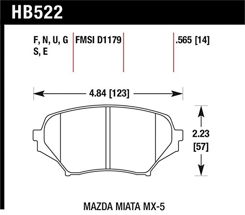 Hawk 06-11 Mazda Miata Mx-5 Front Dtc-60 Race Brake Pads By