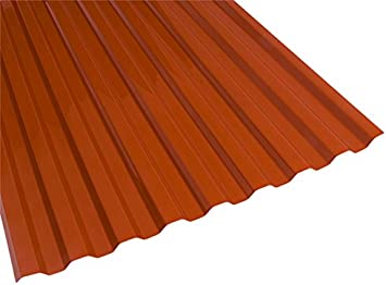 Suntuf 159862 Polycarbonate Roof Panel 72 L X 26 W Red Brick 10 Piece Roofing Amazon Canada