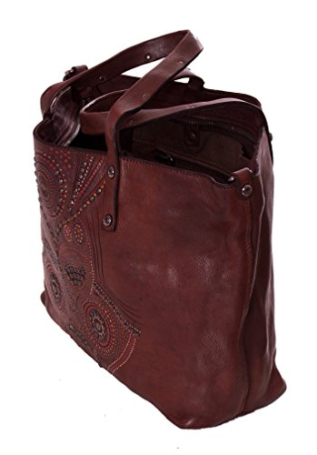 Size Moro Cloth Smooth Campomaggi To One Bag Skin Woman Brown HFwx4fzw