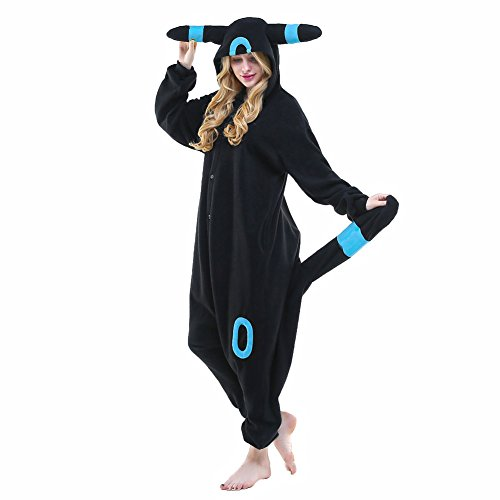 NEWCOSPLAY Adult Anime Unisex Pyjamas Halloween Onesie Costume (L, Blue -