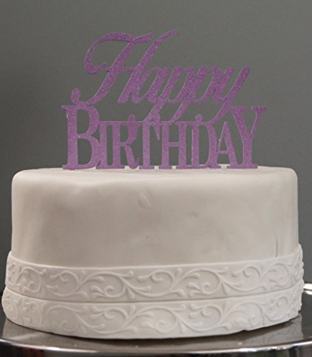 All About Details Purple Happy-birthday Cake Topper