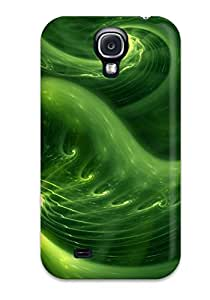 New Abstract Green Tpu Case Cover, Anti-scratch Abikjack Phone Case For Galaxy S4