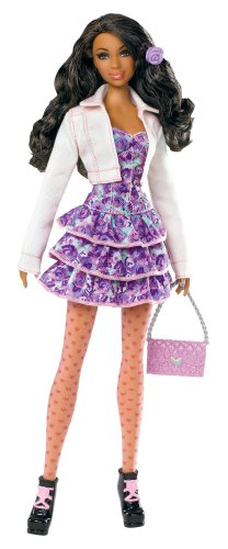 Barbie Stardoll by Barbie Pretty in Pink African-American Doll - Mix and Match Trendy, Original Fashions and Accessories -