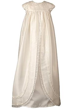 Heritage 'Ariana' Cap Sleeve Christening Robe - Mock Silk