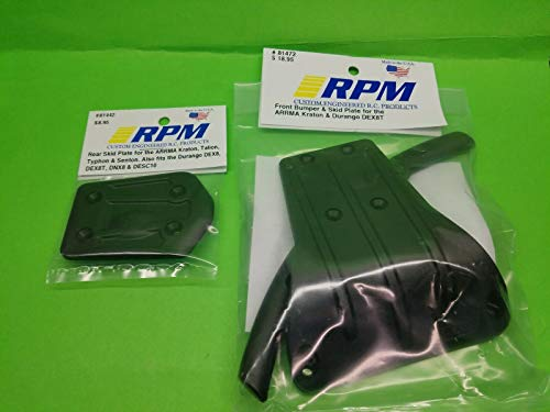 2 Pack RPM 81442 81472 Rear and Front Skid Plate Bumper : ARRMA Kraton, Talion DX8T ()