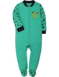 ShengShi Baby 2-Way Zip Front Long Sleeve Footed Sleeper Pajamas