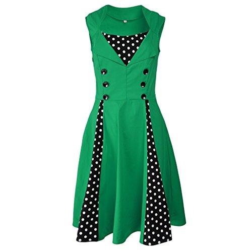 Vintage Da Balla Ragazze Donna Cocktail Prettyia Partito Abiti Verde Gonna Vestito sQrxhoCBdt