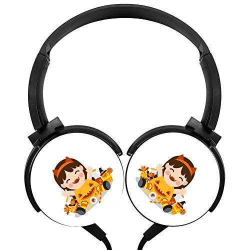 (Halloween Kids Costume Party Wired Headphones Stereo Subwoofer Headphones Lightweight Portable Headphones,)