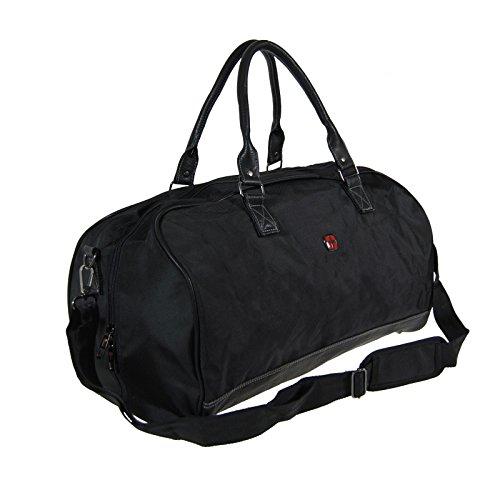 NEW BAGS Reisetasche DUFFLE Bag 53 cm / 38 L Handgepäck Weekender Tasche m. Schultergurt Nylon SCHWARZ