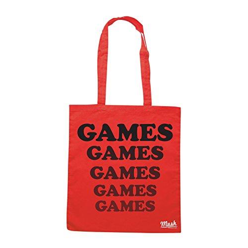 Borsa ADVENTURELAND NERD GAMES - Rossa - MUSH by Mush Dress Your Style