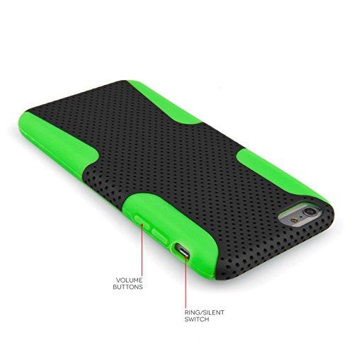 Yousave Accessories AP-GA02-Z577 Etui en silicone gel pour iPhone 6 Plus Noir/Vert