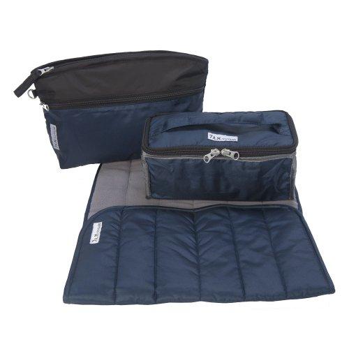 7AM Enfant Voyage Diaper Bag, Metallic Prussian Blue, Large