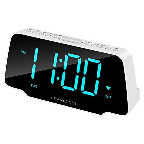 SHANLONYI Digital Alarm Clock with 9