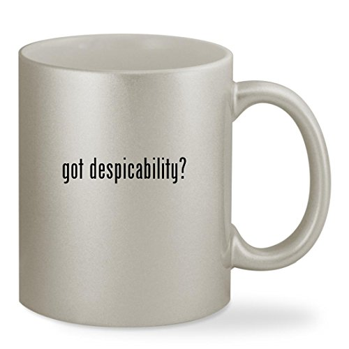 got despicability? - 11oz Silver Sturdy Ceramic Coffee Cup Mug (Despicable Me 2 Agnes Unicorn Costume)