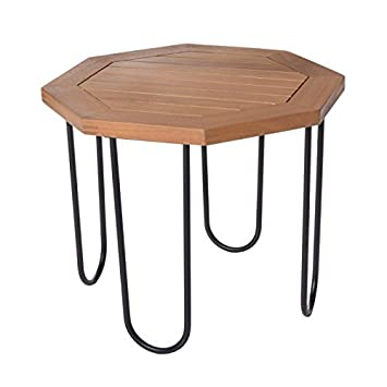 Générique Table de Salon de Jardin octogonale 45cm en Bois d\'acacia ...