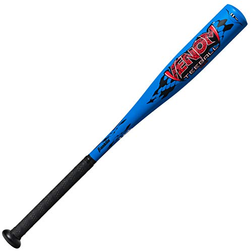 Franklin Sports Venom Aluminum Official Youth Tee Ball Bat - USA Regulation Approved - Perfect for Soft Core T-Balls - 24 Inch/13 Ounce (-11) Blue