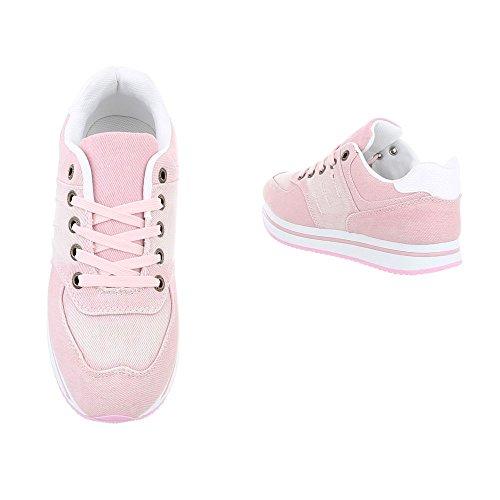 Scarpe AB 140 donna Design piatto rosa da low Sneaker Ital Sneakers rO5vrnxzwq